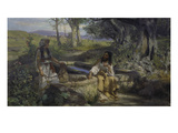 Christ and the Samaritan Woman at the Well, 1890 Giclee Print by Genrikh Ippolitovich Semiradski