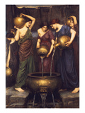 Danaides, 1904 Art by John William Waterhouse
