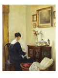 Mutter Und Kind in Einem Interieur Posters av Carl Holsoe