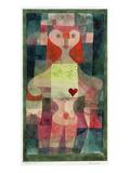 Queen of Hearts (Herzdame), 1922 Giclée-Druck von Paul Klee