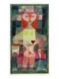 Queen of Hearts (Herzdame), 1922 Giclee Print by Paul Klee