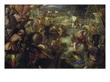 Francesco Ii.Gonzaga Kaempft in Der Schlacht Am Taro Gegen Karl Viii. Von Prints by Jacopo Robusti Tintoretto
