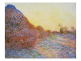 Straw Stacks in the Sunlight, 1891 Giclee Print by Claude Monet