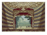 Interior View of the Teatro Alla Scala in Milan, ca. 1830 Poster