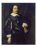 Bildnis Eines Mannes in Schwarzem Atlaswams, 1649 Giclee Print by Bartholomeus Van Der Helst