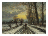 Wanderer at Dawn Giclee Print by Ludwig Munthe