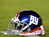 New York Giants - Sept 30, 2012: New York Giants Helmet Poster by Mel Evans