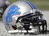 Detroit Lions - Sept 23, 2012: Detorit Lions Helmet Fotografisk trykk av Wade Payne