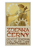 Plakat Zdenka Cerny - the Greatest Bohemian Violoncellist Prints by Alphonse Mucha