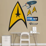 Star Trek Insignia: The Original Series Fathead Jr. Wall Decal
