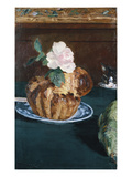 Still Life with Brioche, about 1880 Art by Edouard Manet