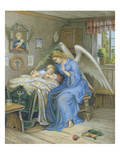 Guardian Angel with Sleeping Child.About 1900 Giclee Print