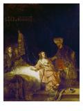 Joseph Und Die Frau Des Potiphar, 1655 Poster by  Rembrandt van Rijn