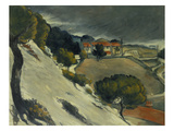First Snow Near L'Estaque, 1870 Giclee Print by Paul Cézanne