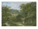 Wooded Landscape, 1779 Giclee Print by Salomon Gessner