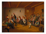 Dance in a Village Inn in Dachau, 1846 Giclee Print by Lorenzo Il Quaglio