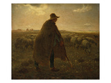 The Shepherd, about 1858-62 Prints by Jean-François Millet