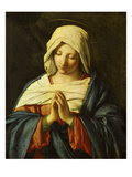 Praying Madonna Giclée-tryk af Giovanni Battista Salvi da Sassoferrato