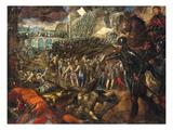 Federico Ii. Nimmt Parma Ein (1521). Gonzaga-Zyklus, Ii.Folge Poster by Jacopo Robusti Tintoretto