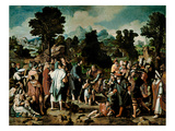 The Healing of the Blind Man of Jericho Giclee Print by Lucas van Leyden