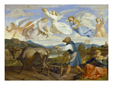 The Dream of St. Isidor, 1839 Giclee Print by Josef von Fuhrich