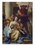 The Martyrdom of St. Agatha, about 1750. (Altarpiece from S. Agata, Lendinara) Giclee Print by Giovanni Battista Tiepolo
