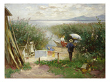 Maler Am Chiemsee-Ufer Giclee Print by Joseph Wopfner