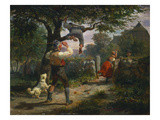 The Thieves of Fruits, 1846 Giclee Print by Hermann Kauffmann