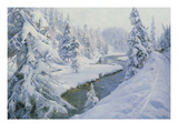 Winter Landscape, St. Moritz, 1930 Giclee Print by Peder Moensted