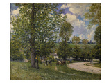 Pasture Ground with Cows Near Louveciennes, 1874 Giclee Print by Alfred Sisley