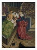 Altar des Nikolaus Puchner. die Selige Agnes Pflegt Einen Kranken Prints by  Master of Kreuzberg
