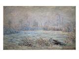 Rauhreiflandschaft Bei Vétheuil, 1880 Print by Claude Monet