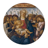 Madonna with Child and Singing Angels, about 1477 Giclee Print by Sandro Botticelli