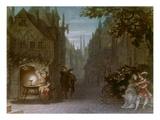 Auffuehrungsbild Von R.Wagners Meistersinger Muenchen 1868. Aquarell Von Giclee Print by Michael Echter