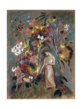 Woman in Flowers, 1904 Reproduction procédé giclée par Odilon Redon