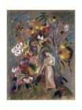 Woman in Flowers, 1904 Posters par Odilon Redon