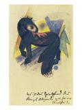 Das Spielpferd des Koenigs Abigail Aus Seiner Kindheit. Postkarte an Else Lasker-Schueler Giclee Print by Franz Marc