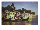 An Elegant Boating Party Giclee Print by Franz Leo Ruben