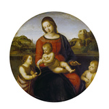 Mary and the Infant Christ and John the Baptist (Madonna Terranuova), about 1505 Impression giclée par  Raphael