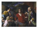 Tribute Money, about 1630 Giclee Print by Bernardo Strozzi