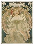 Poster for F. Champenois, 1897 Gicléedruk van Alphonse Mucha