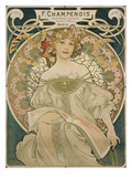 Poster for F. Champenois, 1897 Prints by Alphons Mucha