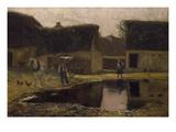 Farmstead in the Picardy Region, 1890 Giclee Print by Franz Skarbina