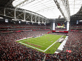 Arizona Cardinals - Sept 23, 2012: University of Phoenix Stadium Bilder av Rick Scuteri