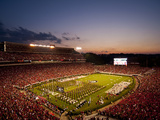 University of Georgia: Bulldogs Enter Sanford Stadium Photographic Print
