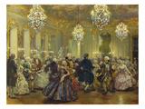 Hofball Im Schloss Reinsberg Giclee Print by Adolph von Menzel