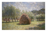 Haystacks at Giverny, 1893 Art by Claude Monet