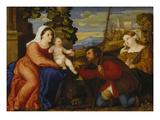 Maria Mit dem Kinde Sowie Den Hll.Rochus Und Aurea() Giclee Print by  Palma Il Vecchio