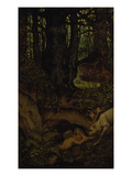 Nymps in the Forest Spring, ca. 1846 Lámina giclée por Moritz Von Schwind