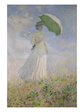 Woman with Parasol Turned to the Right. (Susanne Hoschedé), 1886 Art by Claude Monet